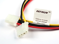 Кабельная сборка TH-04F - TH-04F, ПВ3 1.00мм2, 40см, Definum DF-TH04F-TH04F-PV3-10-040