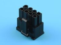 Колодка пластиковая MF-2x04F, шаг 4.20мм, PCI-E, спец.ключ: 6+2pin, 7А,черный, KLS L-KLS1-4.20-26H00