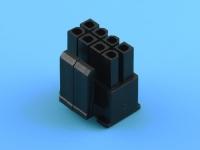 Колодка пластиковая MF-2x04F, шаг 4.20мм, PCI-E, спец.ключ: 4+4pin, черный, KLS L-KLS1-4.20-44H00