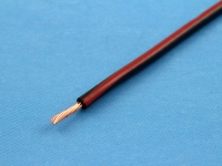 Провод монтажный НВМ-4 0.35мм2, 600В, черно-красный, ГОСТ 17515-72 (цена за 1 метр)