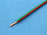 Провод монтажный НВМ-4 0.35мм2, 600В, зелено-красный, ГОСТ 17515-72 (цена за 1 метр)
