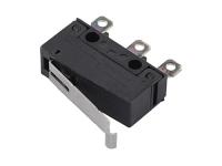 Микропереключатель концевой, 3А, 125В, чёрный, Omron SS-3GL13P