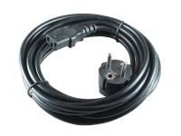 Кабель питания 5.0м, Schuko-C13, 3х0.75мм2, черный, 6А, Cablexpert PC-186-VDE-5М