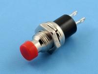 Кнопка OFF-(ON), 250В, 0.3А, без фиксации, гайка сверху, красная, KLS KLS7-PBS-004D-R