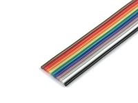 Плоский шлейф цветной RCA-10, шаг 1.27мм, 10 жил (цена за 1 метр)