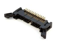 Вилка на плату SCM-26R (IDCC-26MR) шаг 2.54мм х 2.54мм, угловая, с фиксацией, HSM C3000-26RLGB00