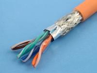 Кабель SF/UTP 5e кат. 4x2 (24AWG) ParLan Patch ZH нг(А)-HF экранированный, SF/UTP-5e-4х2-ZH-HF (цена за 1 метр)
