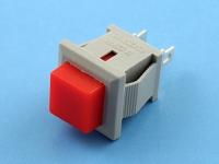 Кнопка OFF-(ON), 250В, 1А, без фиксации, красная, серый корпус, PSR02F-RB