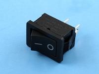 Выключатель SWR-41B черный, 6A, 12VDC, 19х13мм, 2 контакта, KLS KLS7-013A10111BB