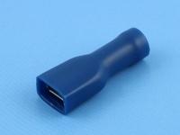 """Кабельный наконечник ножевой """"мама"""", изолированный, прямоугольный, 6.4х0.8мм, синий, Jeesoon F2-6.4VQD"""