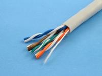 Кабель UTP 5e кат. 4x2 Hyperline гибкий, многожильный, 24AWG, серый, UTP4-C5E-PATCH-GY (цена за 1 метр)