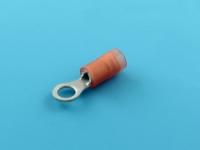 Кабельный наконечник кольцевой, изолированный, M4, 0.25-1.50мм2, виброустойчивый, 19A, 690В, красный, КВТ ВНКИ 1.5-4