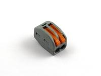 Клеммная колодка соединительная с пружинным зажимом на 2 провода, Wago 222-412