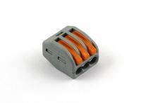 Клеммная колодка соединительная с пружинным зажимом на 3 провода, Wago 222-413