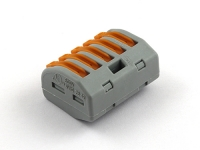 Клеммная колодка соединительная с пружинным зажимом на 5 провода, Wago 222-415