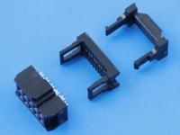 Разъем IDC-10F, 10 pin, 2.54х2.54мм, на шлейф 1.27мм, WE 61201023021