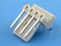 Вилка на плату WF2.5-04R угловая, 4 контакта, шаг 2.54мм, HSM W2730-04PRTC00R