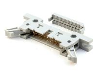 "Разъем IDM-20 (IDCC), 20 pin, ""папа"" 2.54х2.54мм, на шлейф 1.27мм, HSM C9800-20ALSG00"
