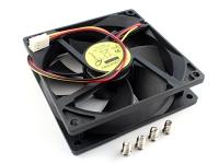 Вентилятор 90x90x25мм, 12V DC, 0.22A, 3pin, шарикоподшипник, Gembird FANCASE2/BALL