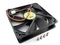Вентилятор  120x120x25мм, 12VDC, 0.30A, 3pin, втулка, Gembird FANCASE3