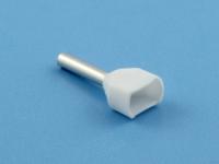 Кабельный наконечник втулочный частично изолированный 0.75мм2 х 2 х 8мм, на 2 провода, Jeesoon CT207508
