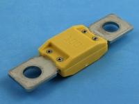 Предохранитель 68.6х18.9мм, под болт M8, MegaVAL 32V, 100A, желтый, MTA F100MEGAVAL