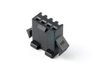 """Корпус разъема GT-04F, для клемм """"мама"""", шаг 2.50мм, черный, HSM H2320-04PB0000"""