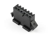 """Корпус разъема GT-06F, для клемм """"мама"""", шаг 2.50мм, черный, HSM H2320-06PB0000"""