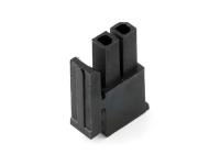 """Корпус разъема MMF-2x01F (MF3-2F) Micro-Fit, для клемм """"мама"""", шаг 3.00мм, черный, HSM H4130-02PDB000R"""