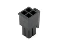 """Корпус разъема MMF-2x02F (MF3-4F) Micro-Fit, для клемм """"мама"""", шаг 3.00мм, черный, HSM H4130-04PDB000R"""