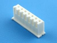 Корпус разъема HK-07, шаг 2.50мм, 2А, 250В, белый, HSM H7000-07PW0000R