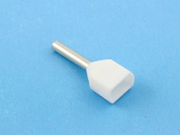 Кабельный наконечник втулочный частично изолированный 0.50мм2 х 2 x 8мм, на 2 провода, КВТ НШВИ(2) 0.5-8