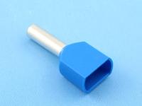 Кабельный наконечник втулочный частично изолированный 2.50мм2 х 2 x 10мм, на 2 провода, КВТ НШВИ(2) 2.5-10