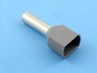 Кабельный наконечник втулочный частично изолированный 4.00мм2 х 2 x 12мм, на 2 провода, КВТ НШВИ(2) 4.0-12