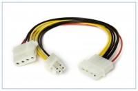 Переходник питания HDD4M->HDD4F+P4F, 0.50мм2, 20см, Definum DF-HDD4M-HDD4F-P4F-020