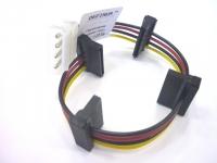 Переходник питания HDD PATA 4pin ->4 SATA 15pin, 5/5/5/5см, Definum DF-HDD4M-4SATA15-025-075