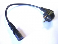 Шнур силовой вилка ЕВРО - розетка C13 0.35м ПВС-ВП 3х0.75мм2, Definum DF-PWR-075-E-C13-035