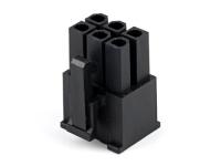 "Корпус разъема MF-2x03F (MF-6F) Mini-Fit, для клемм ""мама"", шаг 4.20мм, черный, PCI-E, Molex 45559-0002"