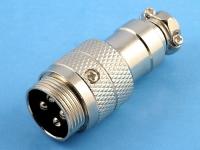"""Разъем цилиндрический MIC-344 4-pin """"папа"""" под пайку на кабель, прямой, M16"""