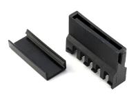 Разъем питания SATA power 15 pin, ножевой, на провод, проходной, угловой, 90гр., HSM C9999-SS315000R