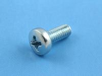 """Винт, M4x10, """"+"""", круглая шляпка, оцинкованная сталь, DIN 7985, M4-10-DIN7985-OC"""