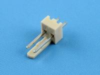 Вилка на плату WF-02S (MX) прямая, 2 контакта, шаг 2.54мм, HSM W2600-02PSYTC0R