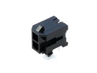 Вилка на плату MMF-2x01R (MF3-2MRA) Micro-Fit, угловая, под пайку, шаг 3.00мм, черная, HSM W4230-02PDRTB0R