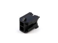 Вилка на плату MMF-2x01S (MF3-2MA) Micro-Fit, прямая, под пайку, шаг 3.00мм, черная, HSM W4230-02PDSTB0