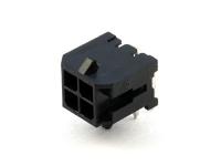 Вилка на плату MMF-2x02R (MF3-4MRA) Micro-Fit, угловая, под пайку, шаг 3.00мм, черная, HSM W4230-04PDRTB0R