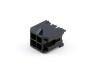 Вилка на плату MMF-2x02S (MF3-4MA) Micro-Fit, прямая, 3.00мм х 3.00мм, под пайку, черная, HSM W4230-04PDSTB0N