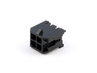 Вилка на плату MMF-2x02S (MF3-4MA) Micro-Fit, прямая, шаг 3.00мм, прямая, под пайку, черная, HSM W4230-04PDSTB0