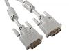 Кабель DVI-D Dual Link 25M/25M, 3м, серый, экран, позол., ферриты, Belsis BW1471