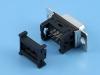 Разъем D-Sub DI-09F, 9 pin, мама, на шлейф 1.27мм, черный, HSM C0580-09FAASB0