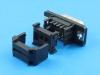 Разъем DI-09M, D-Sub, IDC на шлейф 1.27мм, черный, Connfly DS1036-03-09MPBSI